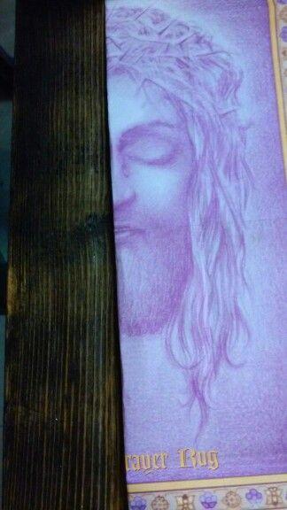 Found Image of Jesus on barnwood!