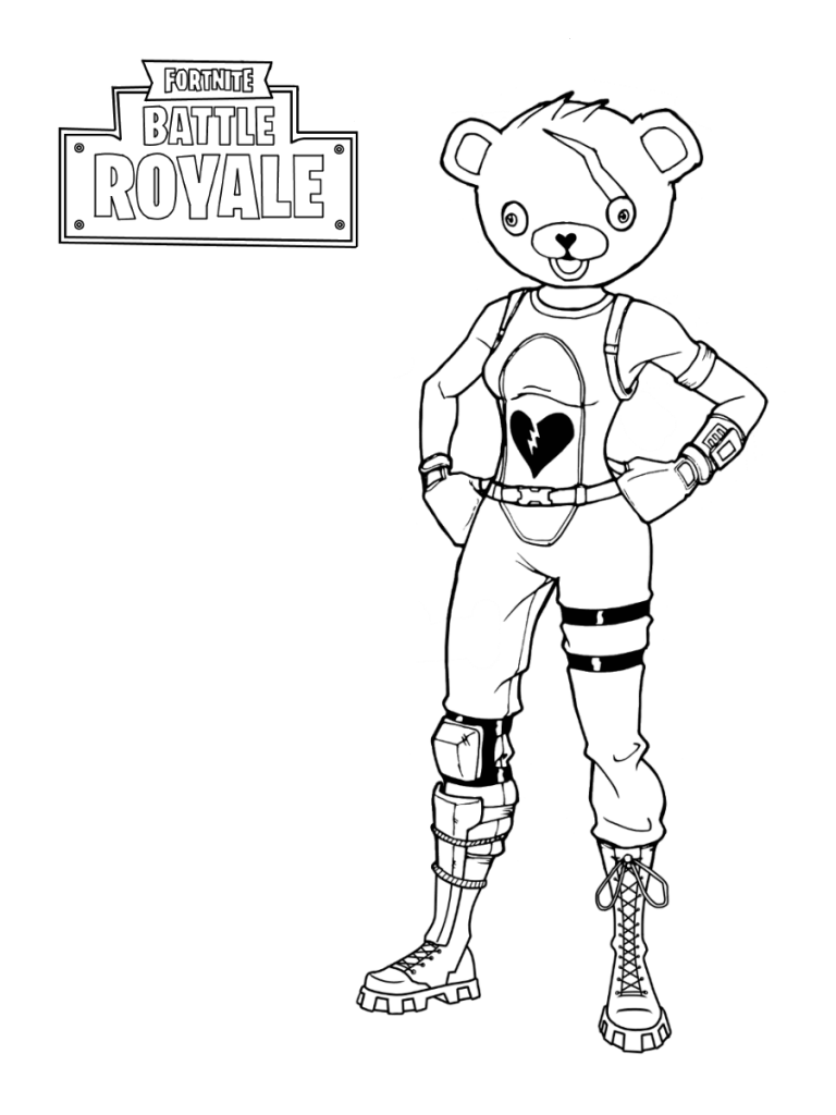 fortnite coloring pages bear coloring