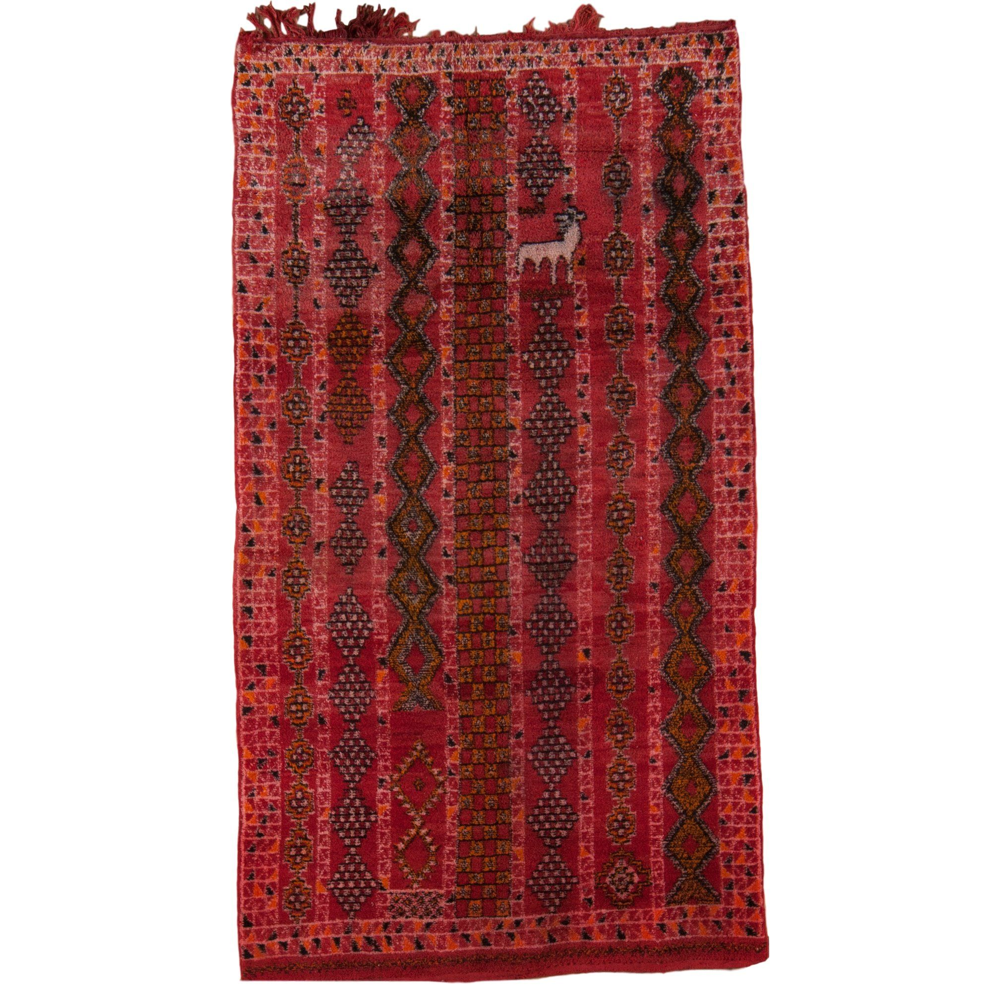 Hand Knotted Red Area Rug PIECES