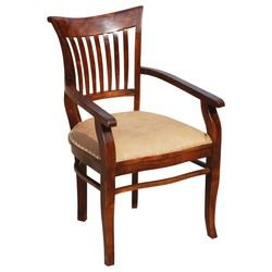 Solid Wood Arm Chair Leather Cushion Dining Furniture Dining