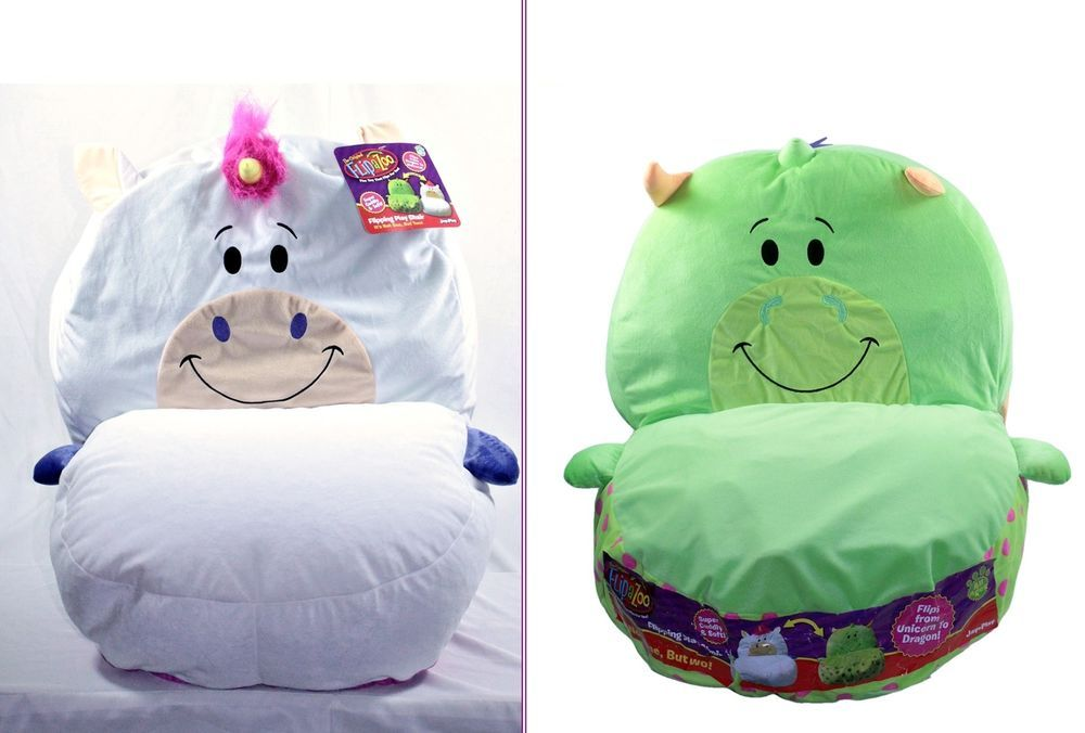 Flipazoo Kids Chair Bean Bag Plush Play Reversible Transform