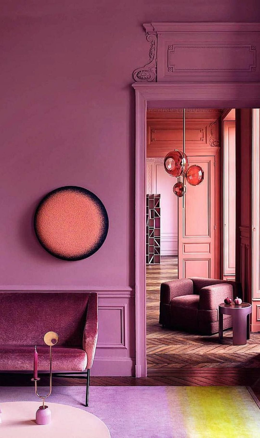 Purple interior design ideas color schemes wall paint combinations bedrooms in pinterest and also rh