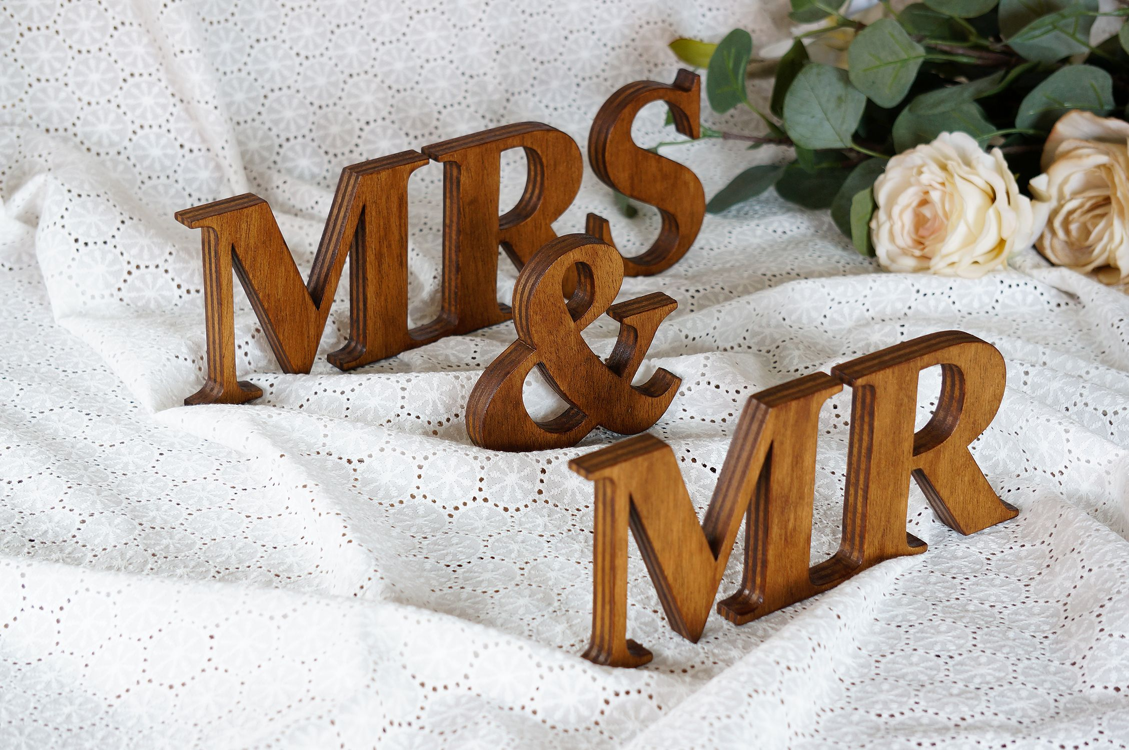 Rustic Wedding Sign Mr Mrs Wooden Letters Table Decor Wedding