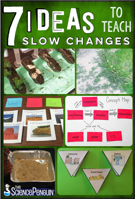 7 Ideas To Teach Slow Changes Weathering Erosion And Deposition
