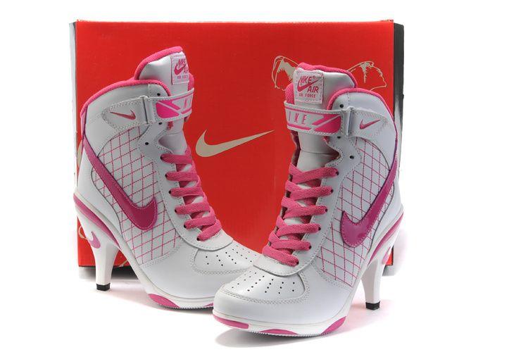 548132941 Girl's Nike High Heels Nike Air Force One WHI Pink whole price On  footwear100.