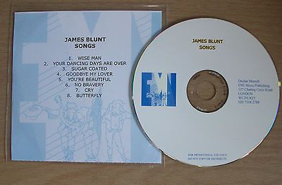 JAMES BLUNT - SONGS (VERY RARE EARLY DEMO PROMO/PROMOTIONAL EMI CD ALBUM)