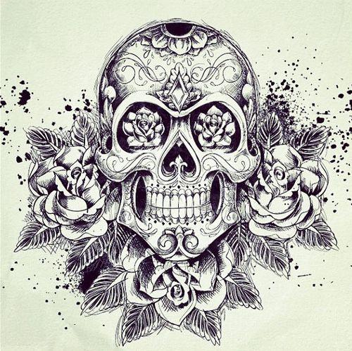 Pin By Elizabeth Naranjo On Tattoos Skull Rose Tattoos Sugar Skull Tattoos Skull