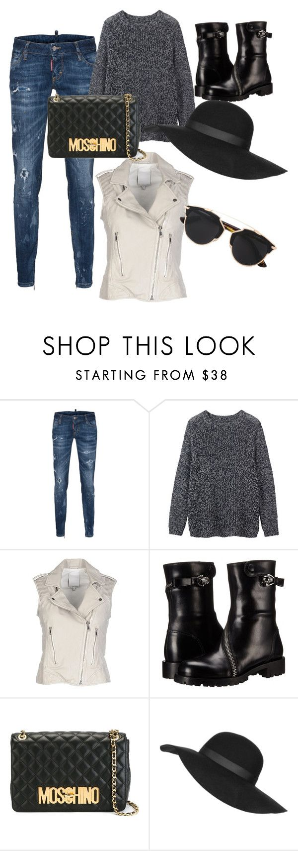 """""""Get the Look 1"""" by diacojocaru ❤ liked on Polyvore featuring Dsquared2, Toast, Brogden, Alexander McQueen, Moschino, Topshop and Christian Dior"""