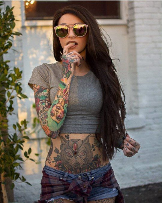 Татуированные девочки увлекают: просмотри все 197 фото ...