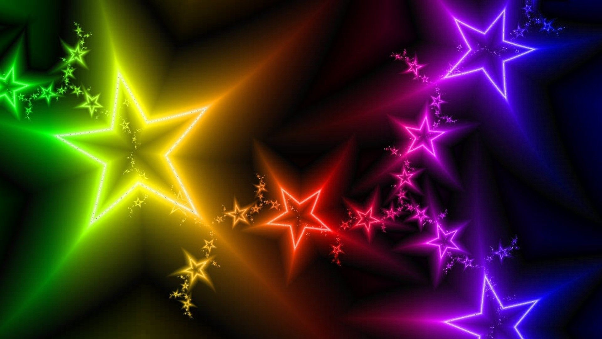 Wallpaper Original stars, light, colorful, abstract Background ...