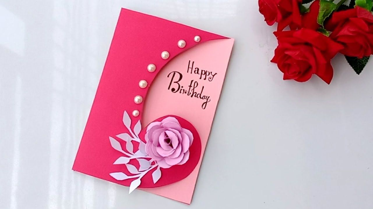 Beautiful Handmade Birthday card//Birthday card idea.  Happy