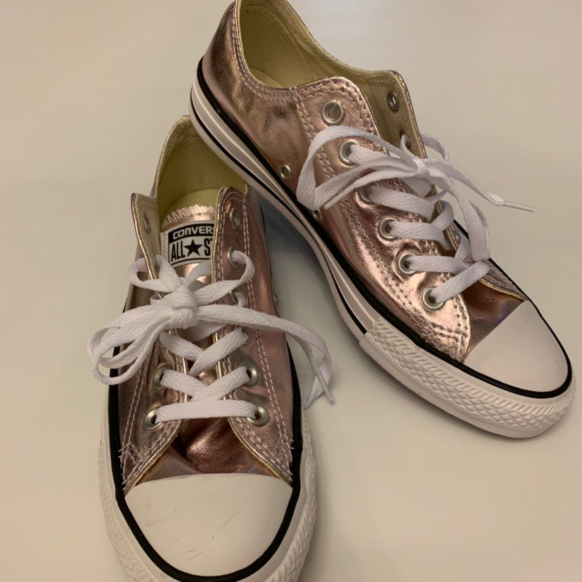Rare Rose Gold Metallic Converse Shoes. These are Authentic. I ...