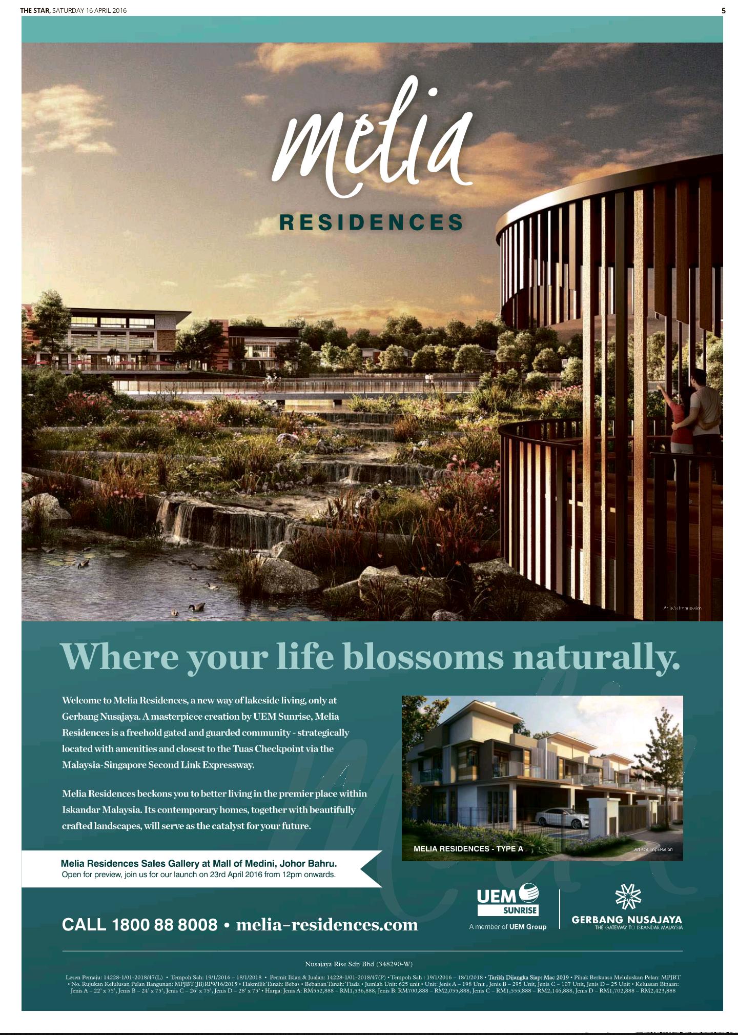 Meliaresidences Real Estate Advertising Real Estate Brochures Real Estate Ads