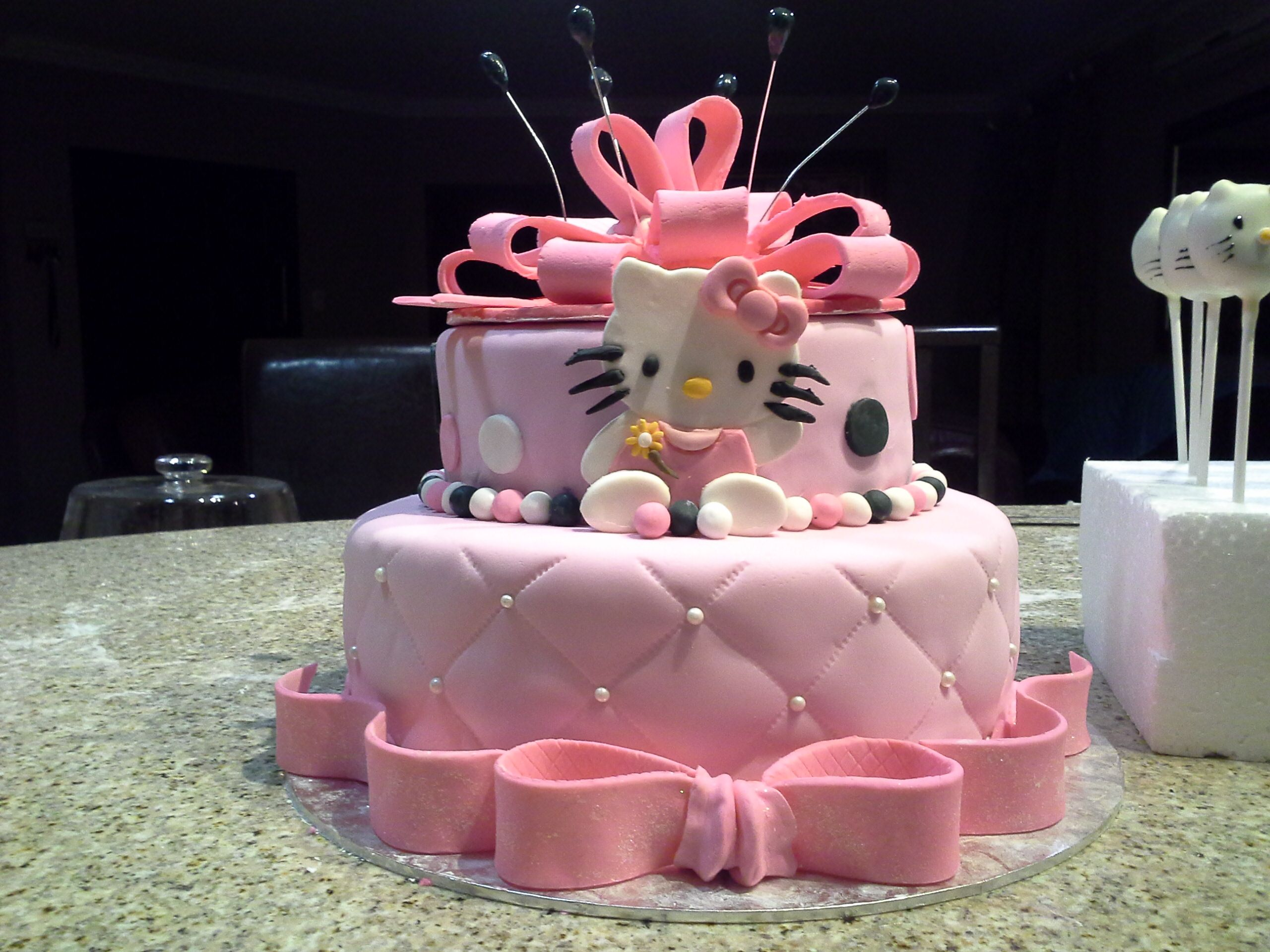 3 Year Old Hello Kitty Birthday Cake