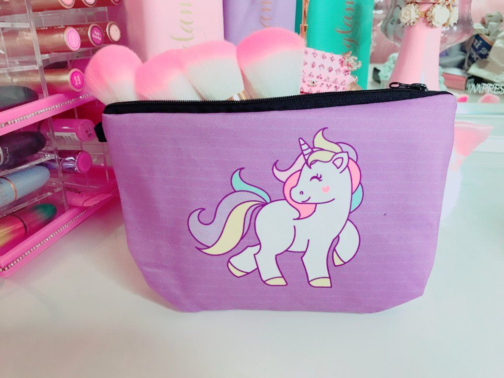 7a89d40e85a6 Purple Unicorn makeup bag in 2019 | UNICORNS | Unicorn Makeup ...