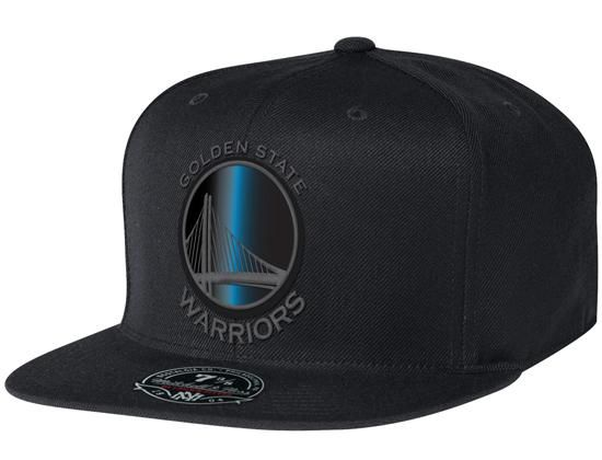 f0b72cf1ffe38 Golden State Warriors Black Foil High Crown Fitted Baseball Cap by MITCHELL    NESS x NBA