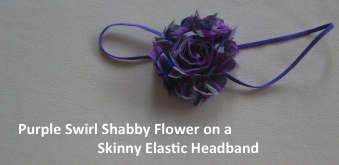 Purple Swirl on Elastic Headband
