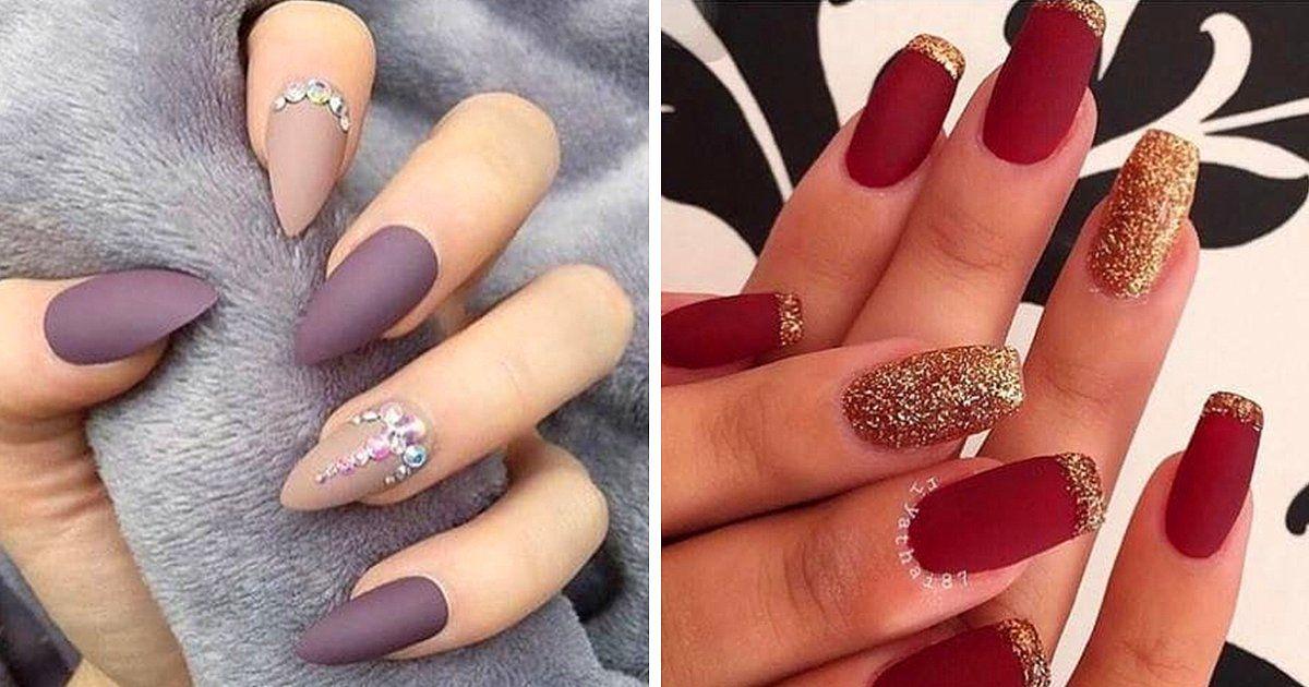 Estos 11 diseños son la prueba de que la uñas mate son el futuro ...