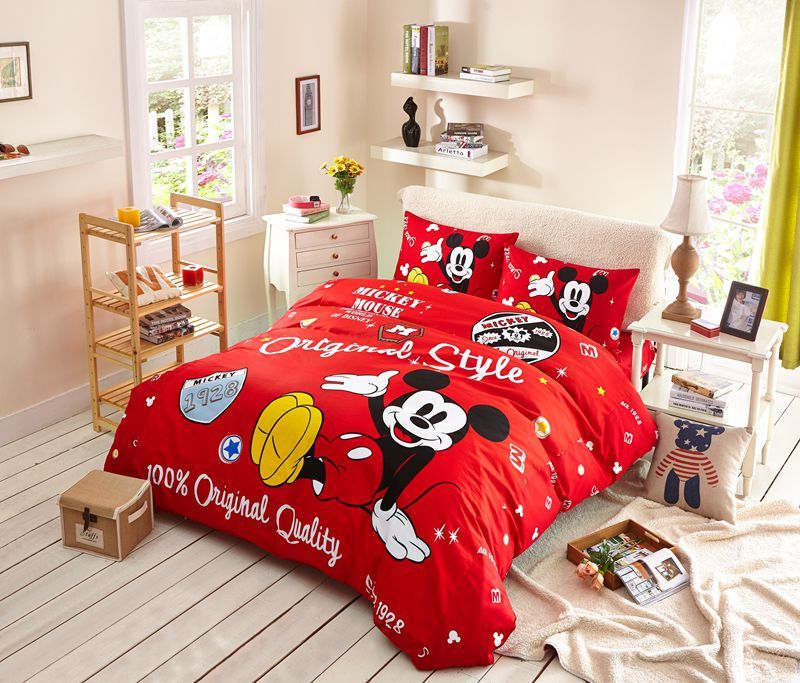Boys Mickey Mouse Comforter Set Twin Queen Size