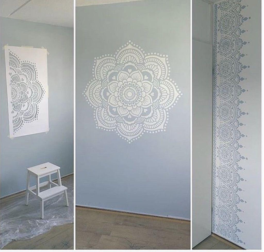 Sjablonen Voor Op De Muur.Hoe Maak Ik Een Mandala Op De Muur Met Een Sjabloon Wall Painting