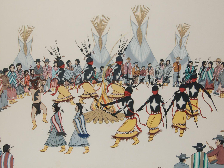 Mescalero Apache Puberty Ceremony By Rudolph Treas Dianas Art