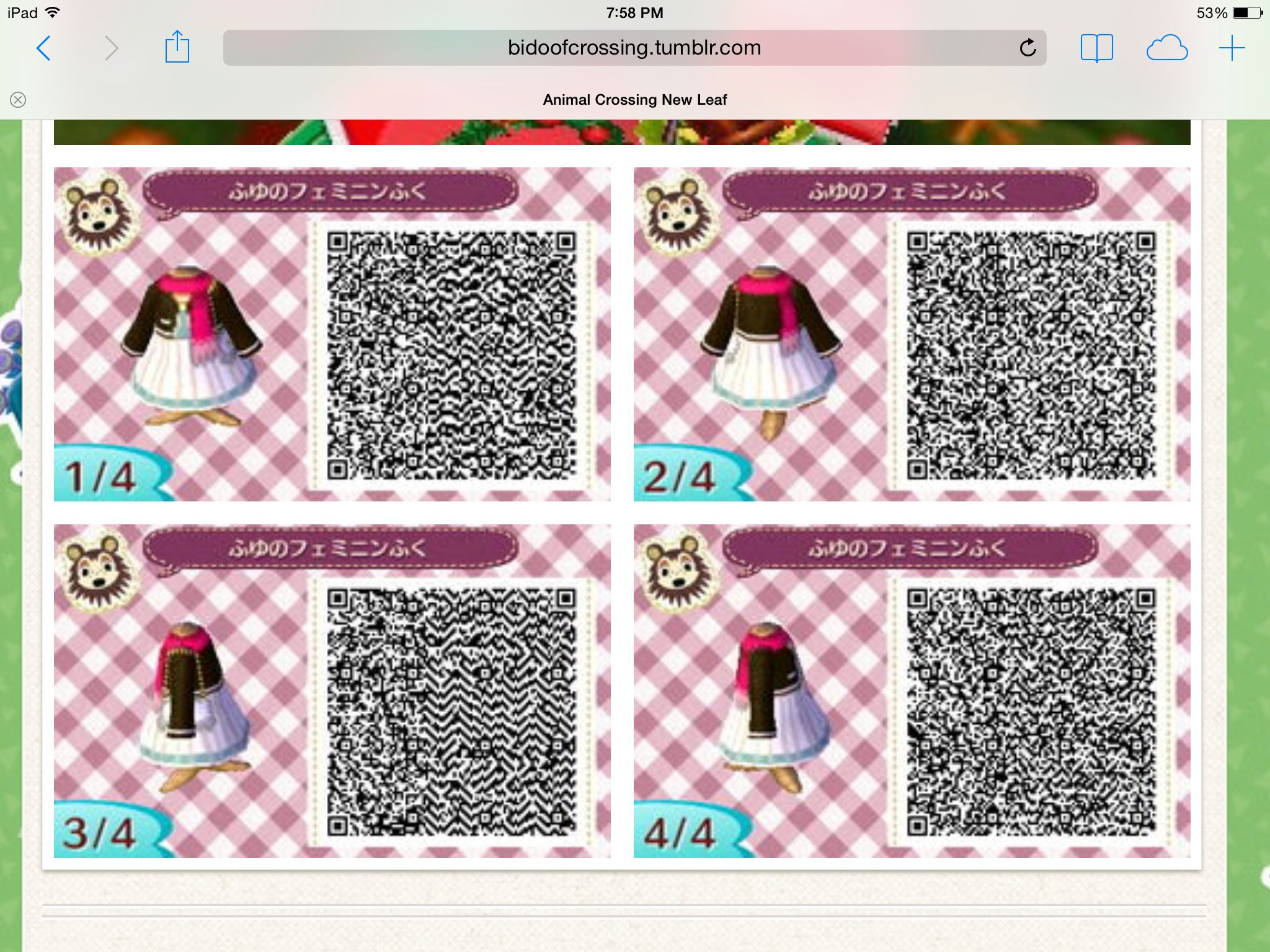 17++ Animal crossing outfit qr codes images