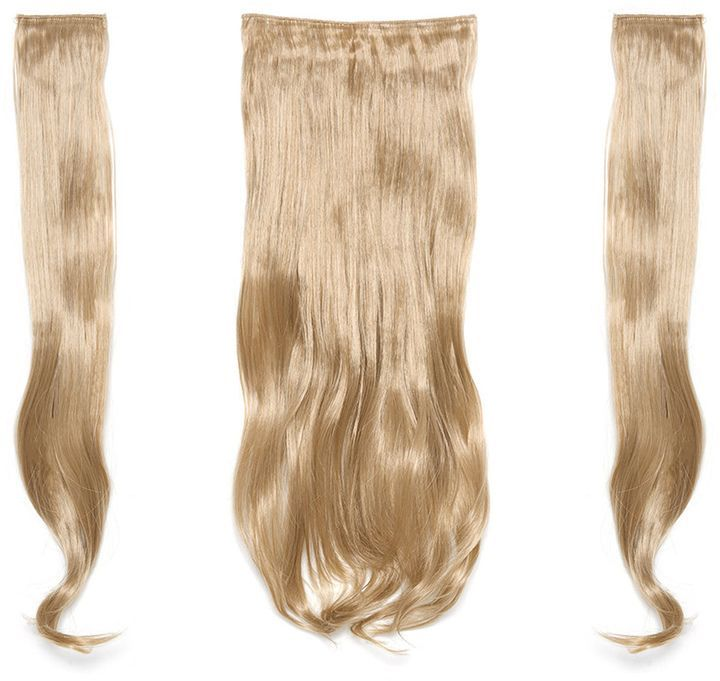 Romwe Champagne Blonde Clip In Soft Wave Hair Extension 3pcs Clip