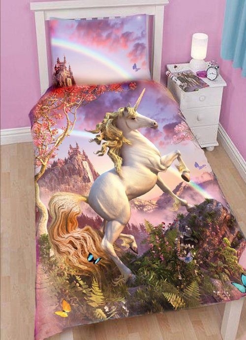 #unicorn Duvet Http://wallartkids.com/unicorn Themed Bedroom