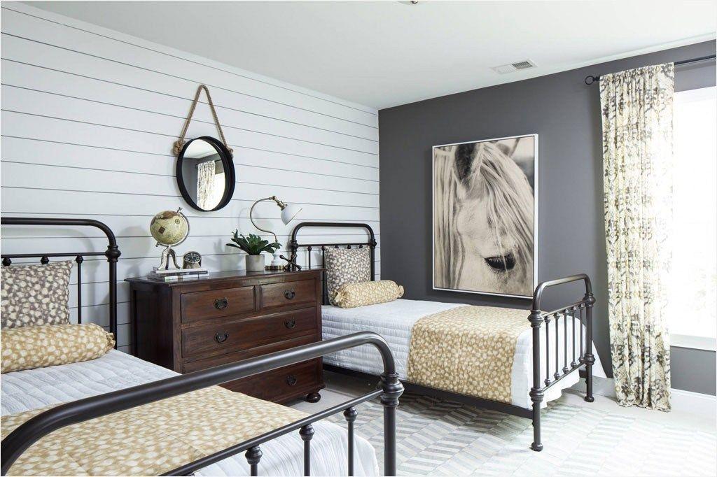 Accent wall bedroom shiplap bedroom
