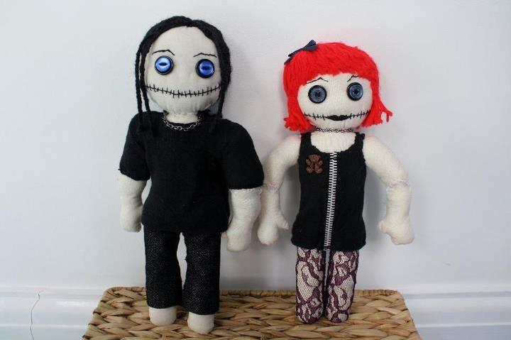 Gothic rag dolls by ~Beckyy-Ray on deviantART