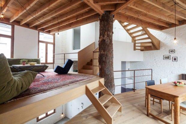 Maison pour un couple d'artistes à Gand en Belgique par Atelier Vens Vanbelle | Maison ...