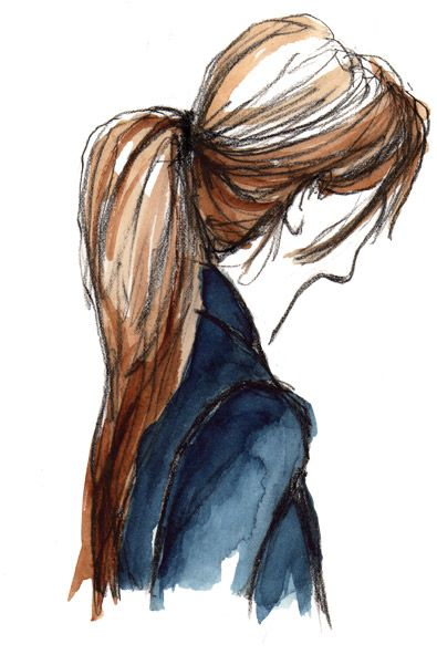 Ponytail Art Sketches Fashion Sketches