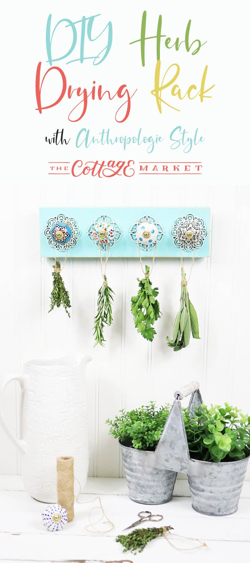 Diy herb drying rack with anthropologie style the