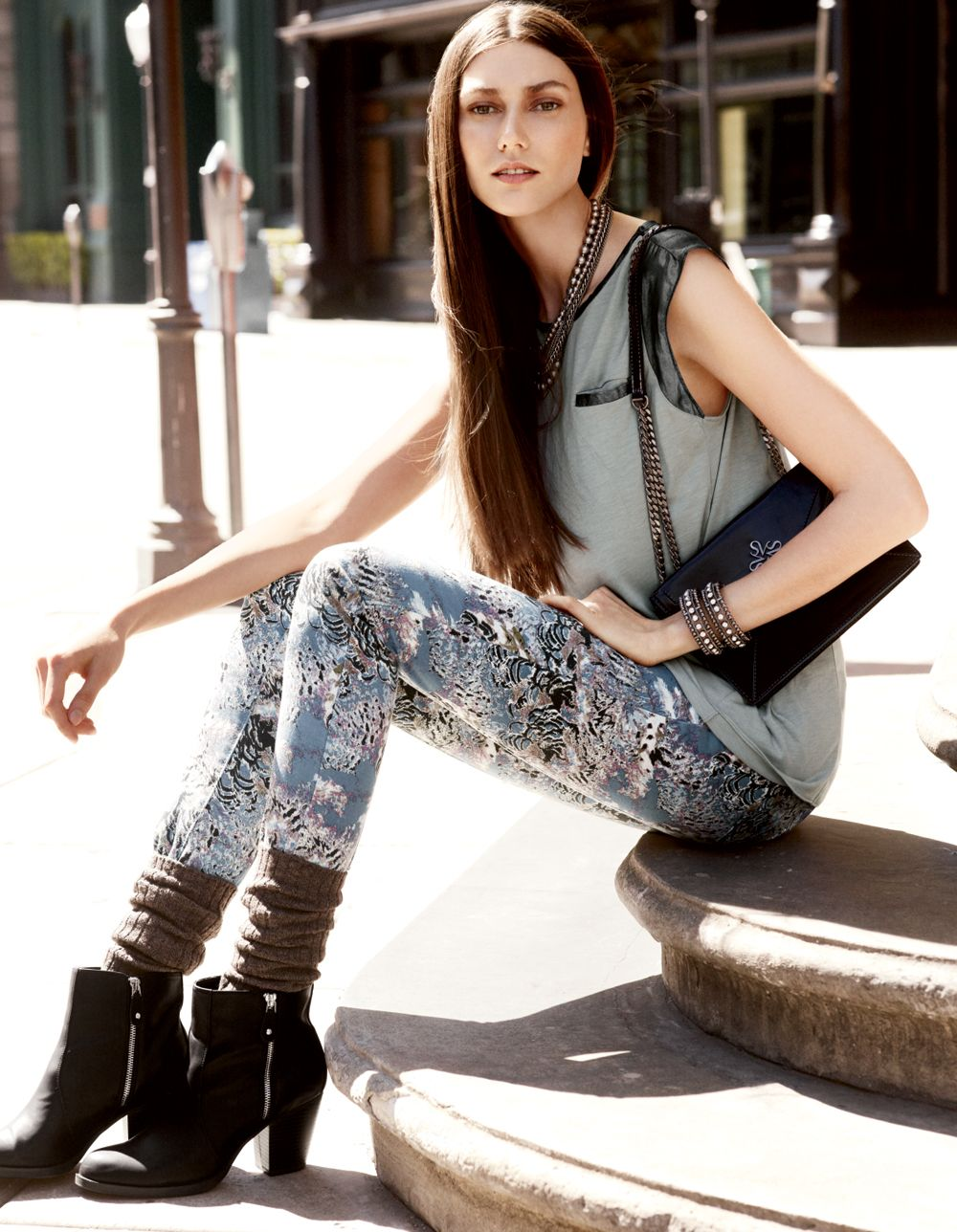 The patterned pant in Vera Wang's signature style. Kohls