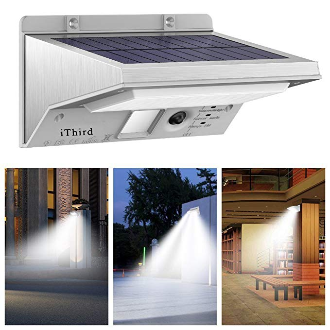 Solar Lights Outdoor Motion Sensor Ithird Led Solar Powered Security Lights Stainless Steel For Solar Motion Lights Outdoor Solar Lights Sensor Lights Outdoor