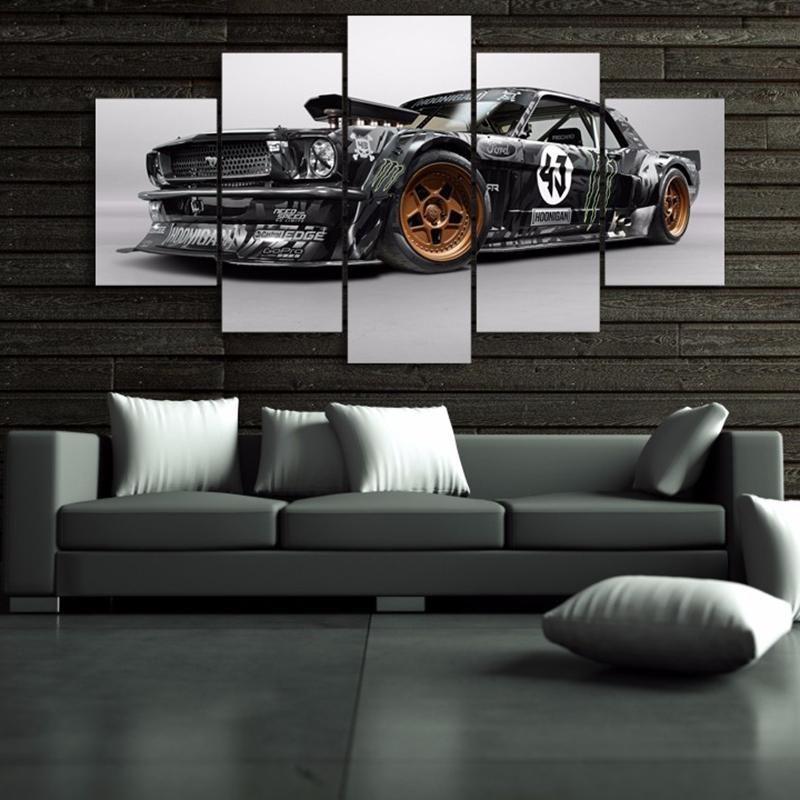 Ken Block Hoonicorn Mustang Hoonigan 5 Panel Canvas Print ...