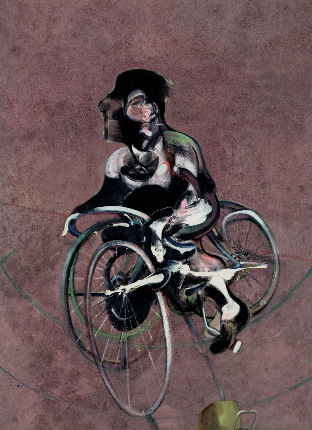 George Dyer Riding a Bicycle (1966), Francis Bacon