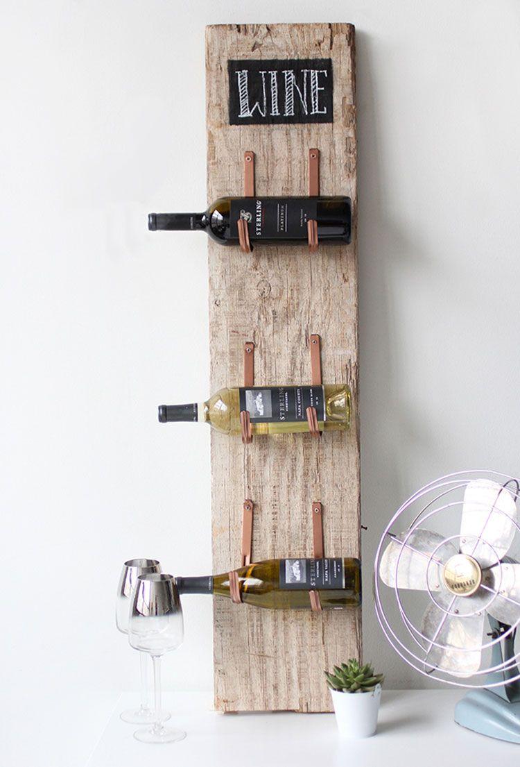 Portabottiglie vino fai da te 25 modelli semplici da for Creare con il fai da te
