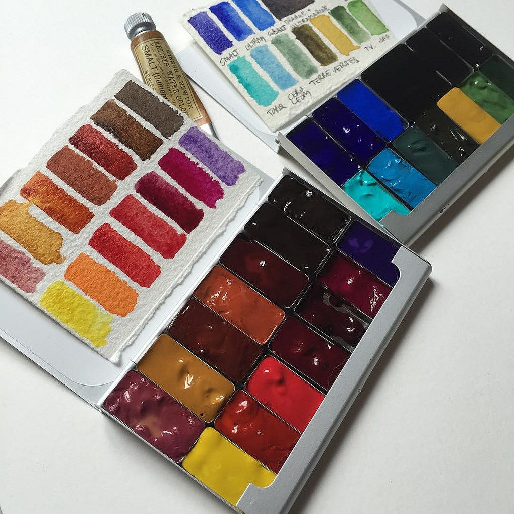 And The Reds Artsupplyaddict Watercolor Kit Colorful