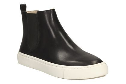Black Clarks Women'S Leather Coll Shore
