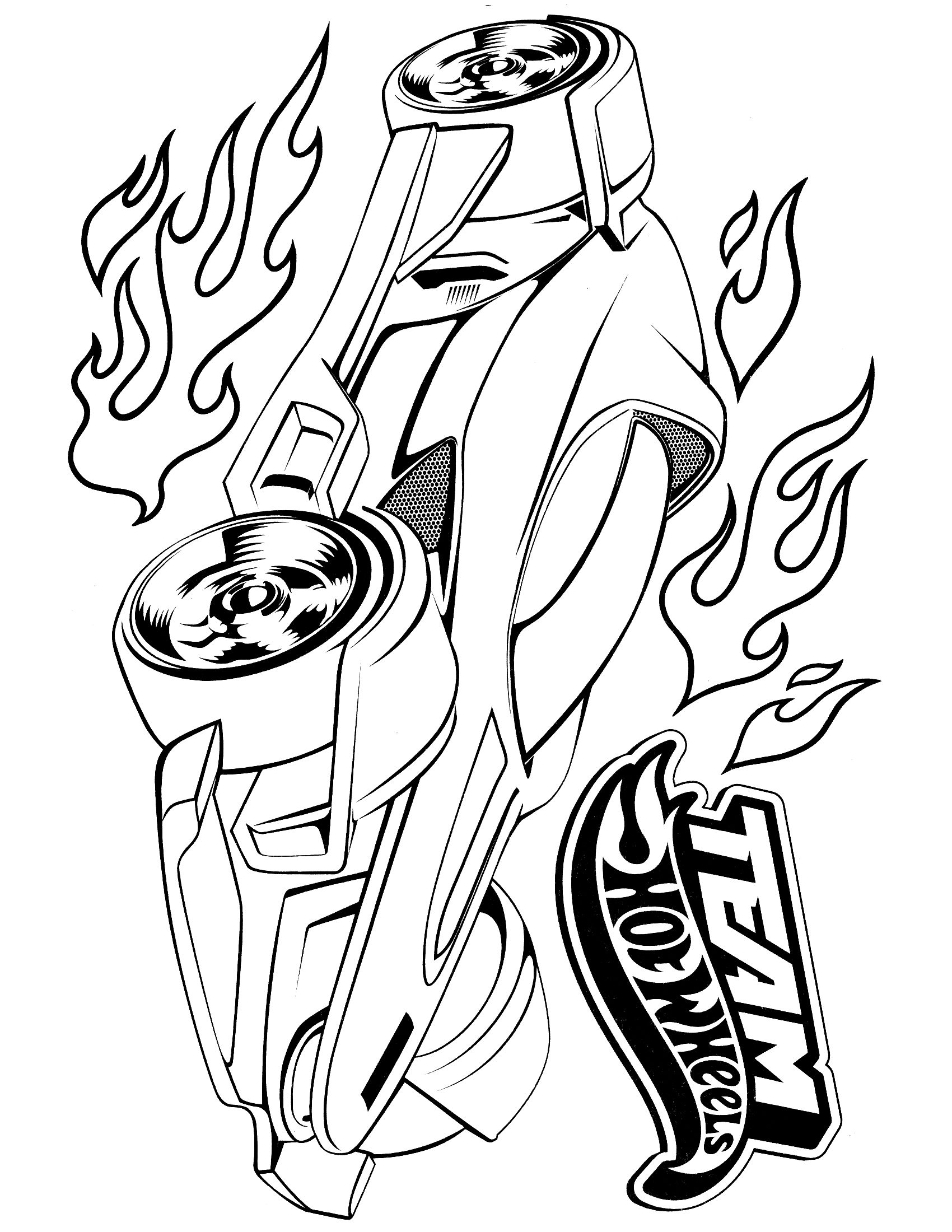 hot wheels coloring page | For the Home | Pinterest | Carreras de ...