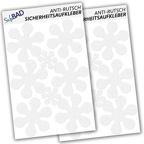 Anti-Slip Decals - 12 flowers at 10 cm, 4 flowers at 5 cm…