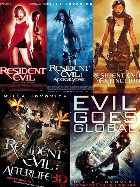 Resident Evil Movie Franchise. | Resident evil movie series ...