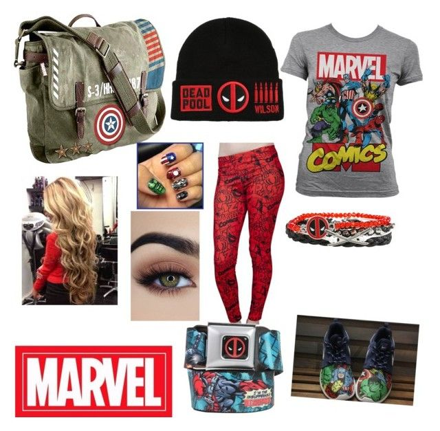 """Marvel outfit"" by destinyallen19990313 on Polyvore featuring Marvel Comics and Marvel"