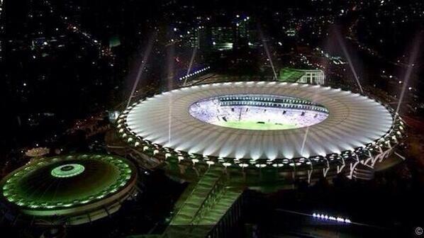 Estadio Maracaná, en éste hermoso estadio de jugara la fina del mundial Brasil 2014.  #MundialBrasil2014 pic.twitter.com/LW7Tw3DFWo