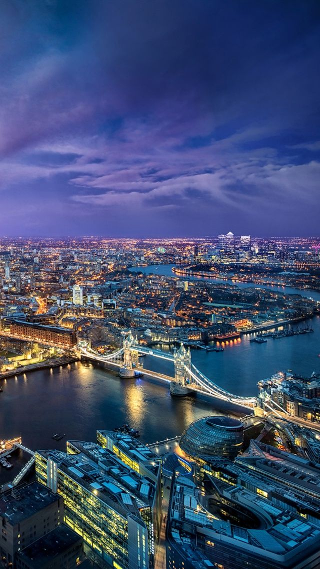 London city at night Beautiful places, Places to visit