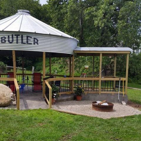 Building A Gazebo From A Grain Bin Primping The Patio