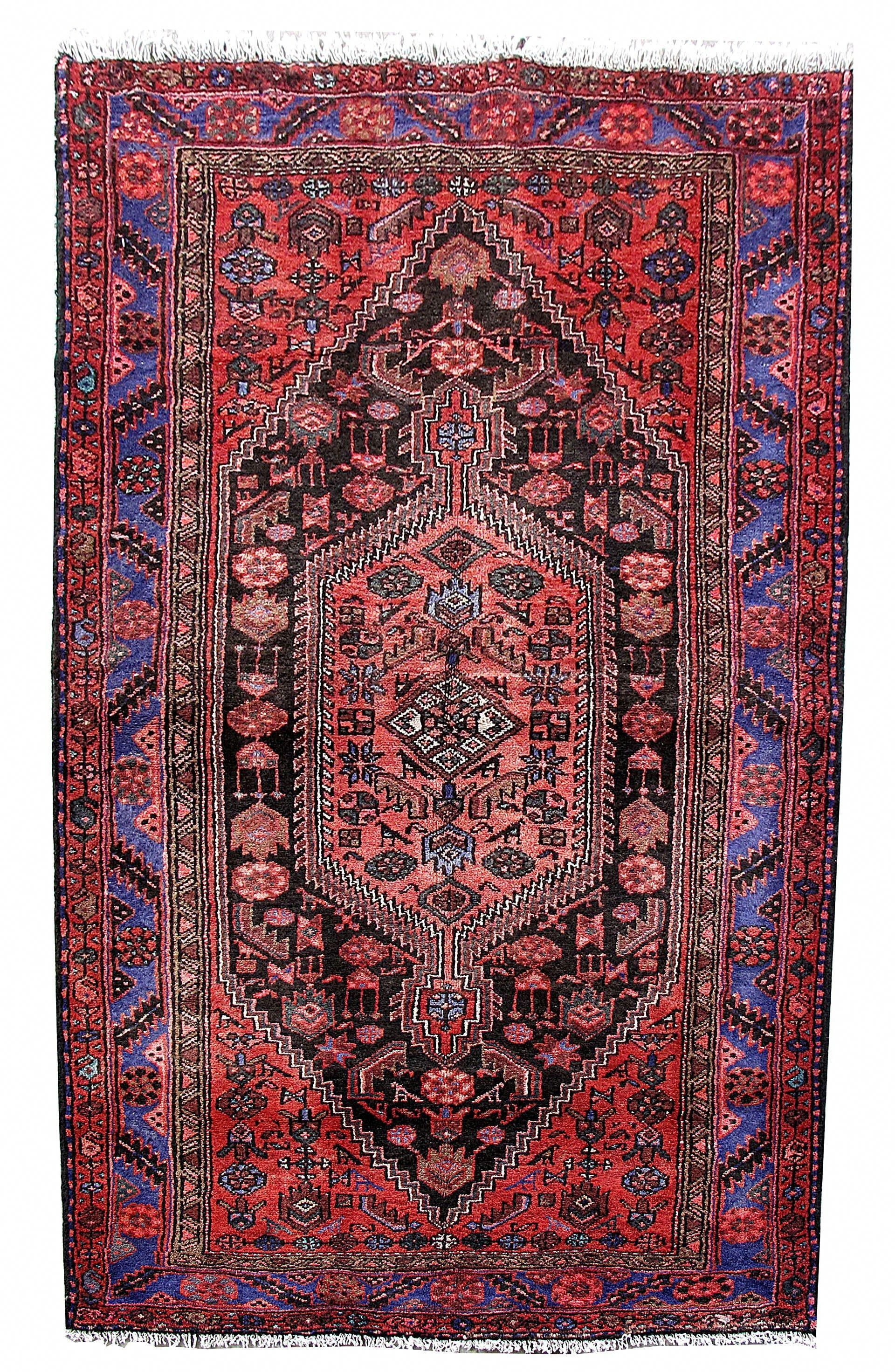 Carpet cheap rugs hand knotted rug 5 x 7 persian hamadan authentic carpetsforless