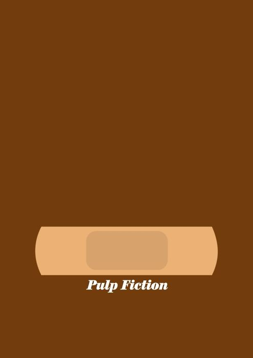 Pulp Fiction By Visual Etiquette Minimalist PosterMinimalist