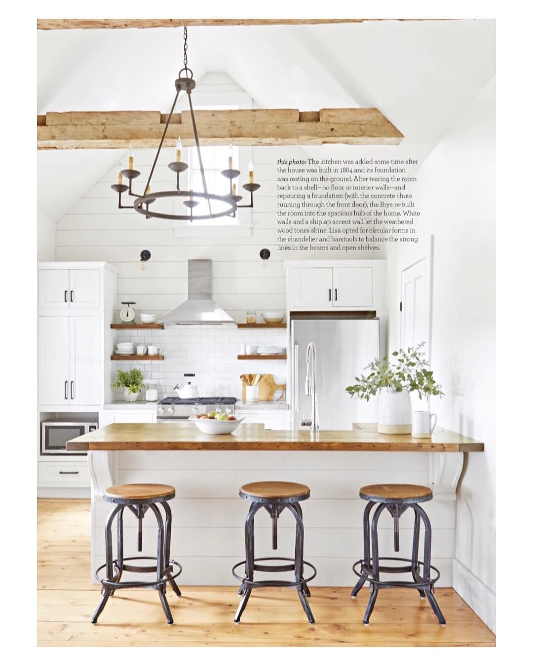 """Farm Home Co. on Instagram """"Farmhouse kitchens will always be my ..."""